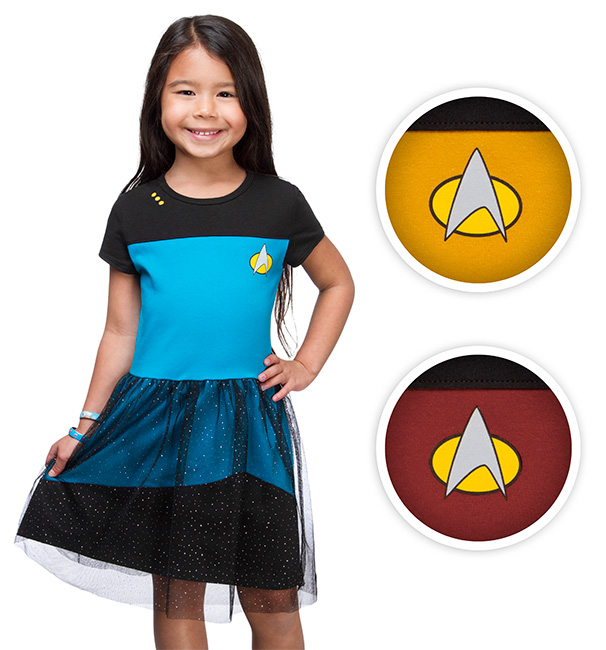 Star Trek TNG Starfleet Girls Tulle Dress