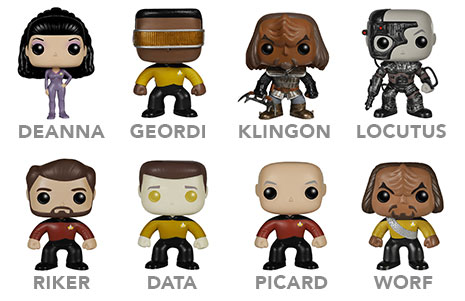 Star Trek TNG Vinyl Pop Figures
