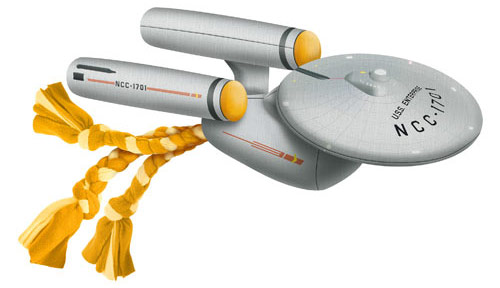 Star Trek TOS Enterprise Dog Chew Toy