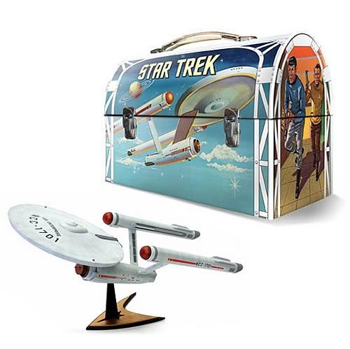 Star Trek: TOS Enterprise Model Kit and Tin Lunch Box