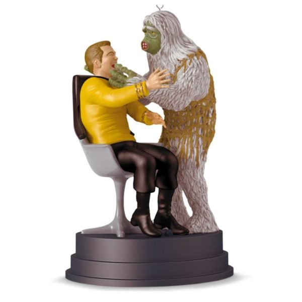 Star Trek The Man Trap Kirk and Salt Monster Ornament With Sound