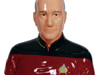 Star Trek The Next Generation Captain Picard Ceramic Cookie Jar