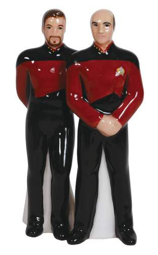 star trek picard and riker salt and pepper shaker set