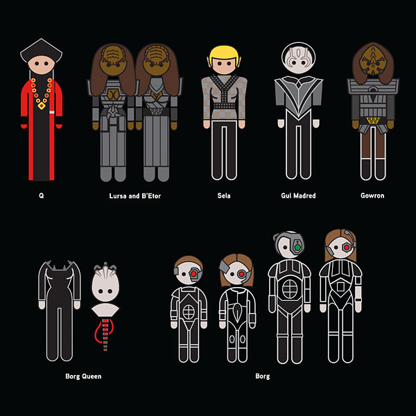 Star Trek The Next Generation Family Car Decals - Star wars family car decals