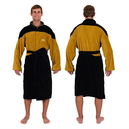 Star Trek The Next Generation Gold Security Bathrobe