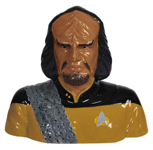 Star Trek The Next Generation Worf Ceramic Cookie Jar