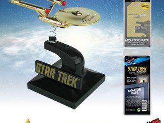 Star Trek The Original Series 24K Gold Plated Enterprise Monitor Mate