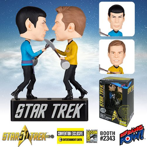 Star Trek The Original Series Amok Time Kirk vs. Spock Bobble Heads