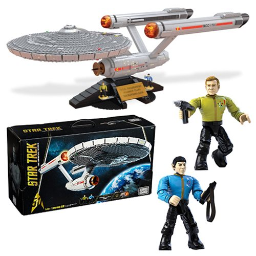 Star Trek The Original Series Mega Bloks U.S.S. Enterprise NCC-1701 Vehicle