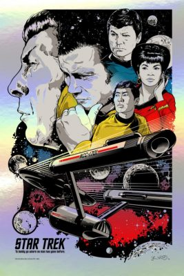 Star Trek To Boldly Go Art Print_Foil Variant