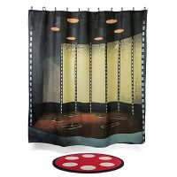 Star Trek Transporter Room Bath Mat and Shower Curtain Set