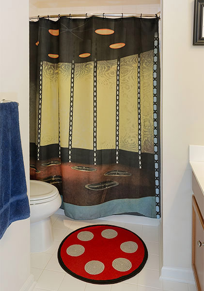 Star Trek Transporter Room Bath Mat and Shower Curtain