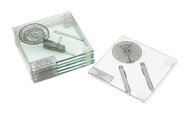 Star Trek U.S.S. Enterprise NCC-1701 Coasters Set of 6