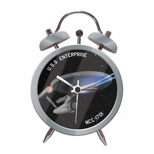 Star Trek U.S.S. Enterprise NCC-1701 Twin Bell Alarm Clock