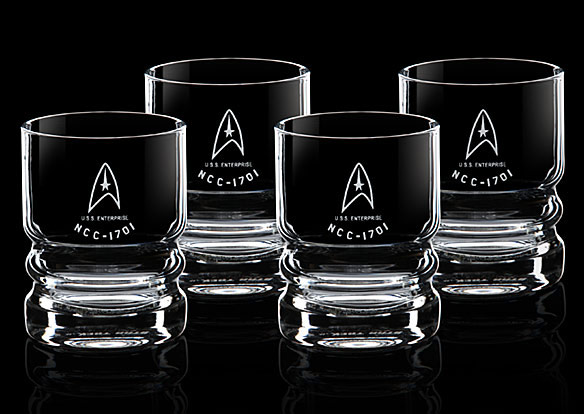 Star Trek USS Enterprise Glassware Set