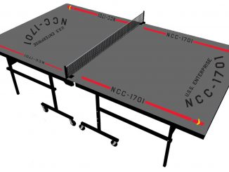 Star Trek USS Enterprise NCC 1701 Ping Pong Table