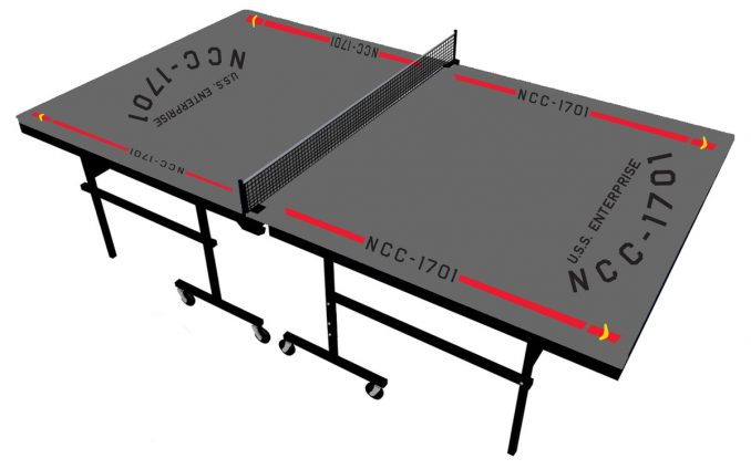 Star Trek USS Enterprise NCC 1701 Ping Pong Table