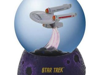 Star Trek USS Enterprise in Space Lighted Water Globe
