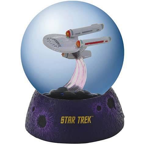 Star Trek USS Enterprise in Space Lighted Water Globe