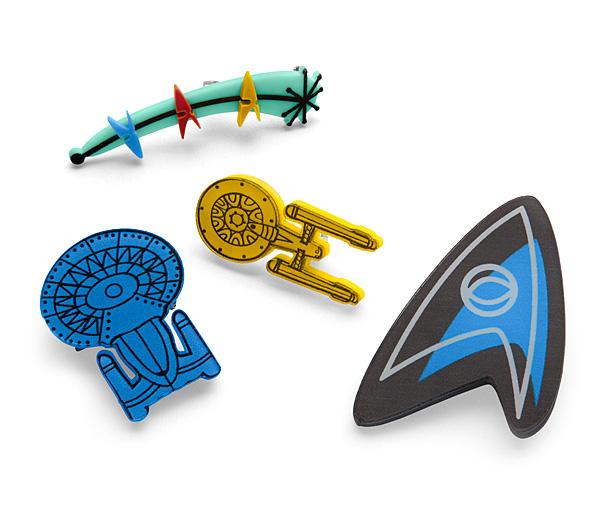 Star Trek Vintage Style Brooch Set - Gadget Lovers
