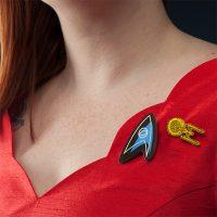 Star Trek Vintage Style Brooch Set