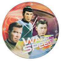 Star Trek Warp Speed Wood Wall Clock