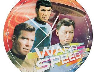 Star Trek Warp Speed Wood Wall Clock