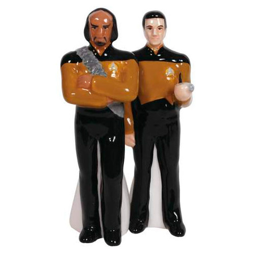 Star Trek Worf and Data Salt and Pepper Shaker Set
