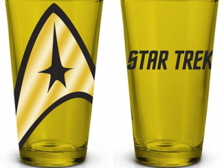 Star Trek Yellow Pint Glass