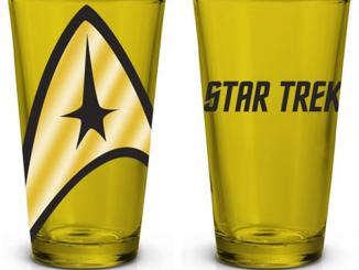 Star Trek Yellow Pint Glass