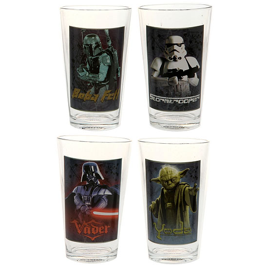 Star Wars 16-Ounce 4-Piece Glass Set