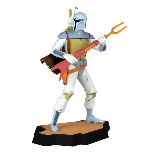 Star Wars 1978 Holiday Special Boba Fett Animated Maquette