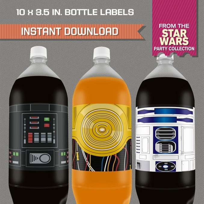 Star Wars Printable 2 Liter Bottle Labels