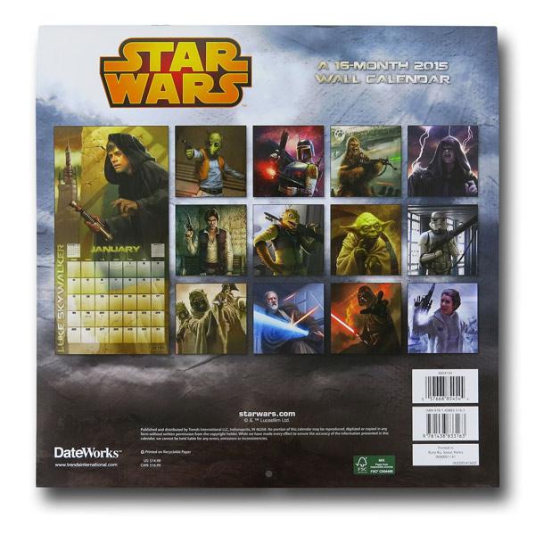 Star Wars 2015 Calendar