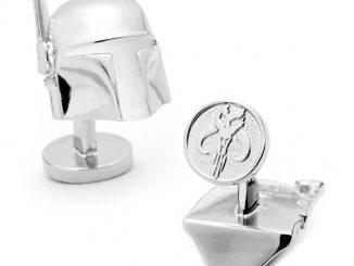 Star Wars 3-D Boba Fett Helmet Cufflinks