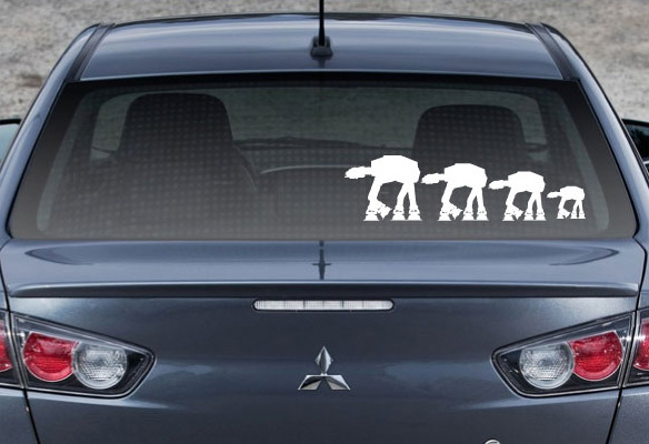 Star Wars AT-AT Family Auto Decals