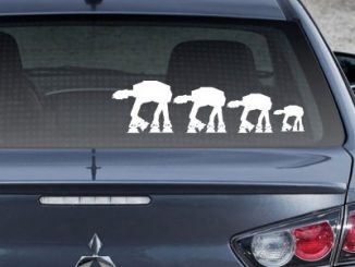Star Wars AT-AT Family Car Decals