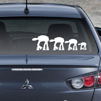 Star wars at at family auto decals
