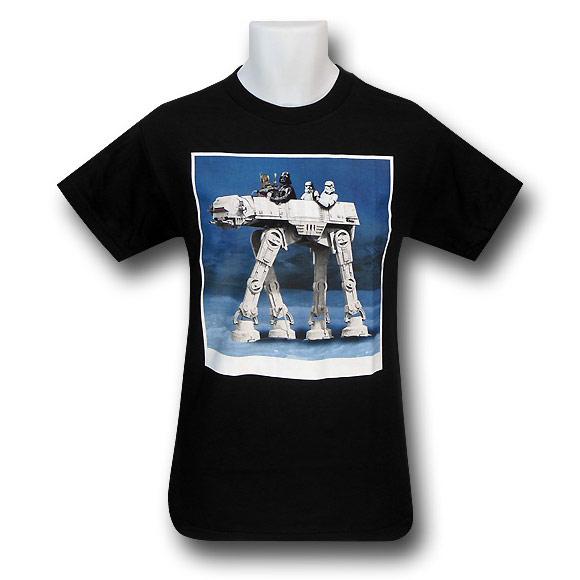 Star Wars ATAT Ride Black TShirt