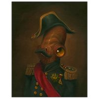 Star Wars Admiral Ackbar Magnitude Canvas Giclee Print