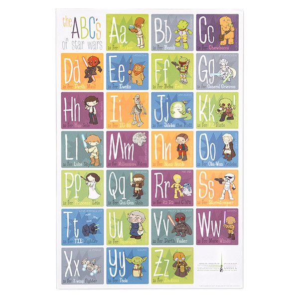 Star Wars Alphabet Poster