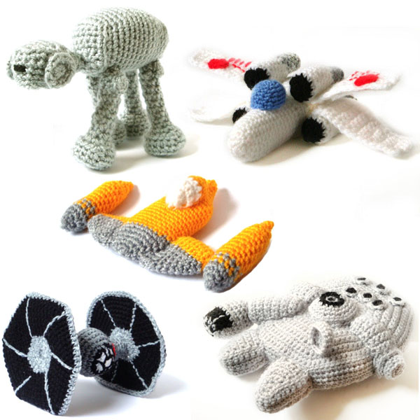 Free Crochet Star Wars Doll Patterns : Star Wars Amigurumi Vehicle Patterns