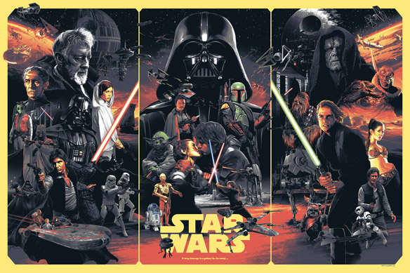 Star Wars Art Print by GABZ - small