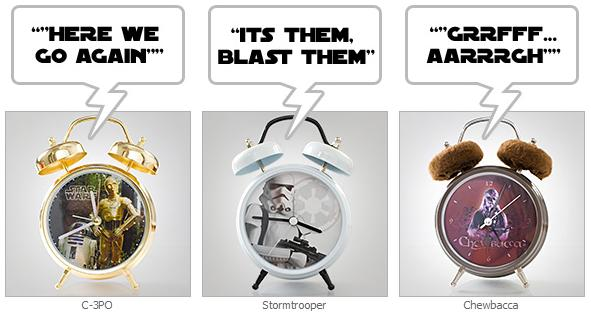 Star Wars Audio Alarm Clocks