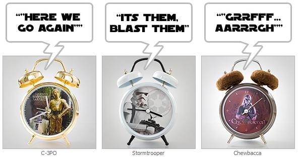 Star Wars Audio Alarm Clocks