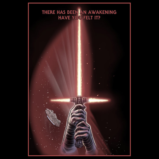 The star wars awakening t-shirt is available for $19.95 at neatoshop