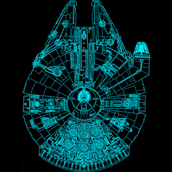 Star Wars Blue Millennium Falcon Shirt