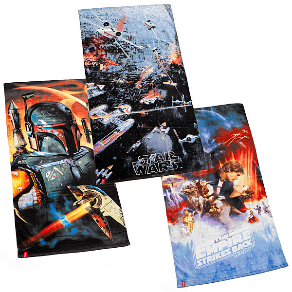 Star Wars Boba Fett, Empire Strikes Back, and John Berkey Beach Towels