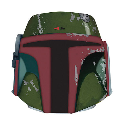 Star Wars Boba Fett Formed Foam Helmet Can Hugger