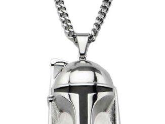Star Wars Boba Fett Helmet 3-D Pendant Necklace